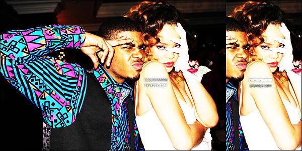 """.  18/12 - Riri, dans un style très 80's, a fêtée la fin du """"Loud Tour"""" avec un bal de promo, à Londres. Les Américains ont tendance à fêter toutes les fins de choses importantes.. Et biensûr, Rihanna n'a pas voulu échapper à la règle !   ."""