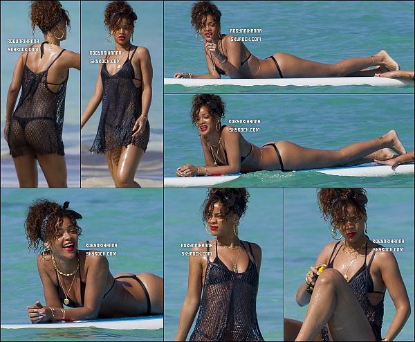 * 19/01/2012':' Rihanna, et son corps de rêve, a une fois de plus été vue sur les plages d ' Hawaï ..   + Découvrez  des photos de la maison qu'elle a louée à Hawaï : ici. Ainsi que des photos qu'elle à publiée sur son Twitter, Clique. *