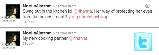 * PAUSE TWITTER ______Découvrez deux récents tweets de la cousine de Rihanna ..*