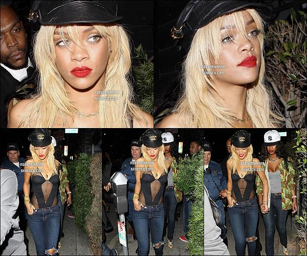 * 05/02/2012':' Rihanna, la fêtarde, a été photographiée  quittant le club « Greystone » à Los Angeles.  *