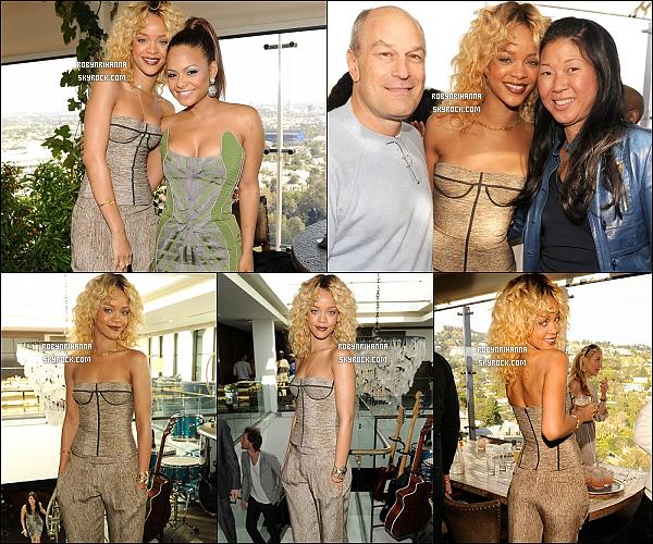 * 11/02/2012':' Rihanna était à un brunch organisé par Roc Nation, le « pré-Grammy Awards ».  Malheureusement , les festivités ont été de courte durée suite à l'annonce du décès de la chanteuse Whitney Houston. R.I.P ! *