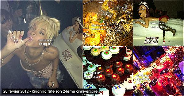 * 14/02/2012':' Rihanna a été vue quittant le restaurant « Scarpetta » à Beverly Hills (Los Angeles).   *
