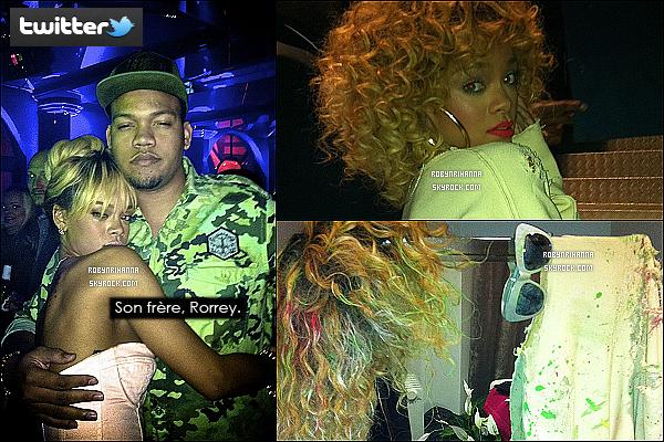 """* 21/02/2012':' Après les """"Brit Awards"""", Rihanna la fêtarde est allée s'amuser au club """"Mahiki"""" à Londres. Juste avant de se rendre à ce club londonnien, Rihanna est allée commander un menu maxi best-of  à un """"McDonald"""" toujours à Londres.  *"""