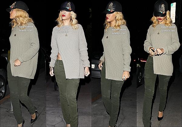 * 01/03/2012':' Rihanna a repris ses bonnes habitudes en allant au restaurant « Giorgio Baldi » à L.A.   *
