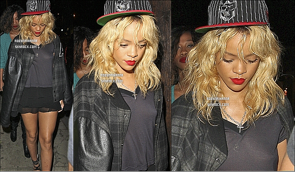 "* 04/03/2012':' Rih allait au club   ""Greystone Manor"" à Los Angeles, dans le quartier de West Hollywood.   *"