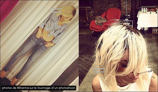 * 12/03/2012':' Rihanna a été vue sortant de son hôtel pour se rendre au « Milk Studio », à New York ! La belle s'est  rendue à ce studio pour faire un photoshoot réalisé par Terry Richardson, dont voici les premières photos du tournage.  *