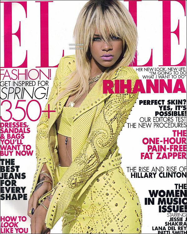 """* « ELLE » ___Voici la couverture et le photoshoot du magazine """"Elle"""" aux Etats-Unis.*"""