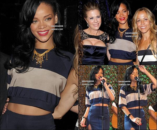 * 17 avril 2012':' Rihanna était invitée à la 15 ème édition du gala « An Unforgettable Evening ».  *