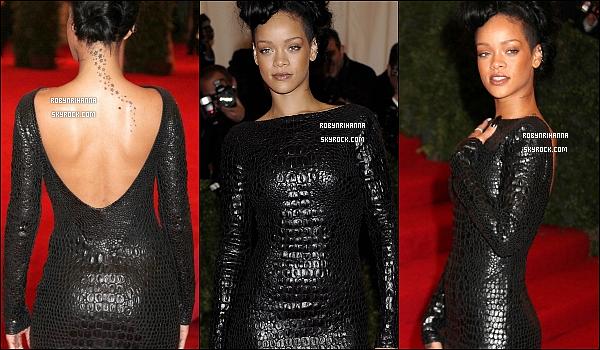 * 07 mai 2012':' Rih était au gala du « Met Ball », autrement dit le « Costume Insitute Gala » à New York.  *