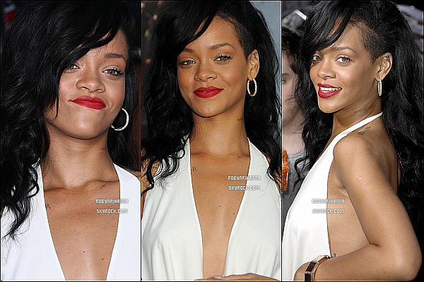 * 10 mai 2012':' La belle Rihanna était présente à l'avant-première de « Battleship » à Los Angeles.  *