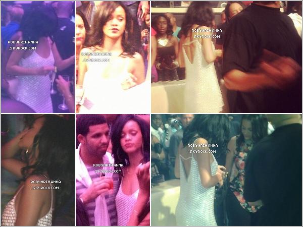 """. 27.05.12 """" : """"Rihanna, ainsi que Drake, Lil Wayne, Rock Ross et Busta Rymes, était au club « LIV » à Miami.+ Notre sublime Riri, juste avant de se rendre au club, a tourné un petit passage du clip « Pop That » de French Montana.  ."""