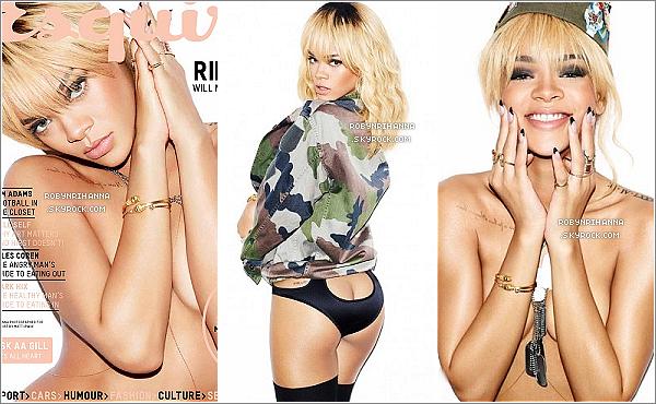 . Magazine.:.Découvrez de nouvelles photos  de Rihanna issue du photoshoot pour le magazine « Esquire UK ».En voyant la vidéo des coulisses, d'autres clichés devraient bientôt aussi faire leur apparition... pour notre plus grand plaisir !  .