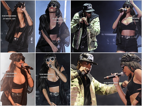 """. 23.06.12"""":""""Rihanna a rejoind Jay-Z au festival « Hackney » à Londres, pour interpréter « Run This Town ».●' Rappel : Ce dimanche 24 juin, Rihanna assurera également un show à ce même festival dès 22h00 (heure française).  ."""