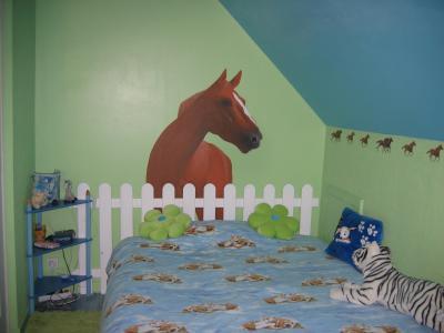 chambre cheval fille free parure de lit housse de couette taie d oreiller chevaux cheval. Black Bedroom Furniture Sets. Home Design Ideas