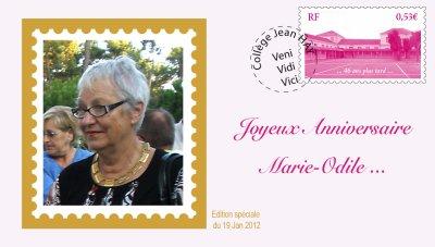 Bon anniversaire Marie-Odile
