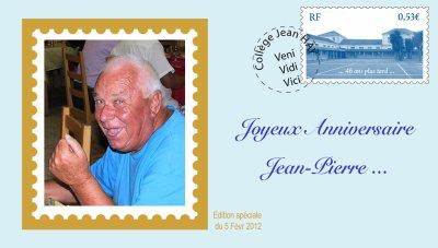 Bon anniversaire Jean-Pierre