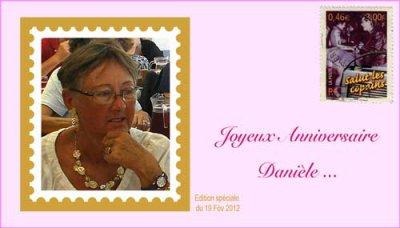 Bon anniversaire Danièle