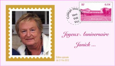 Bon anniversaire Janick