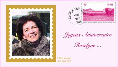 Bon anniversaire Roselyne
