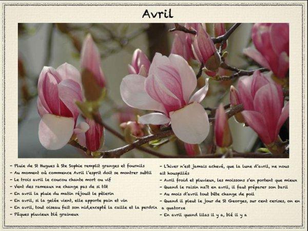 Le mois d'avril