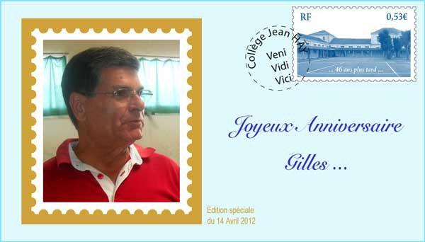 Bon anniversaire Gilles