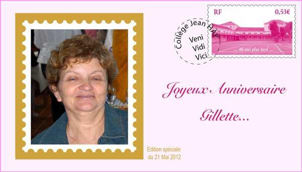 Bon anniversaire Gilette