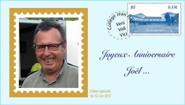 Bon anniversaire Joël