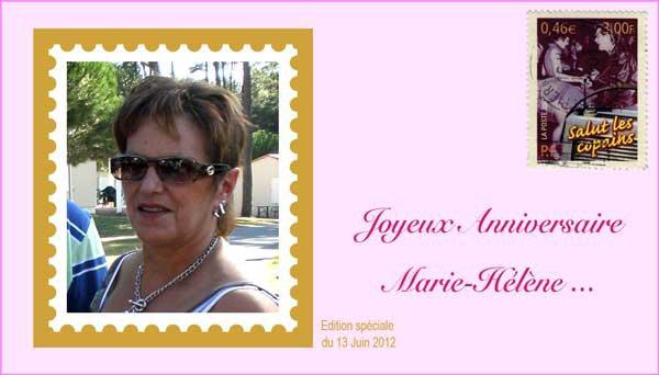 Bon anniversaire Marie Hélène