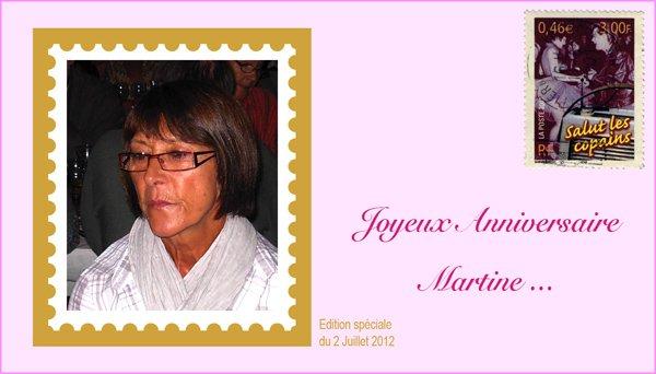 Bon anniversaire à Martine Pidoux