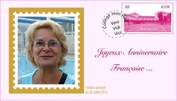 Bon anniversaire à Françoise et Michel