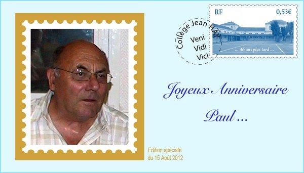 Bon anniversaire Paul