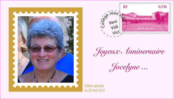 Bon anniversaire Odile et Jocelyne