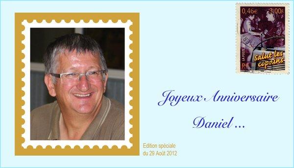 Bon anniversaire à Sylviane et à Daniel