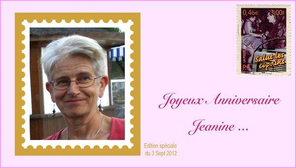 Bon anniversaire Jeannine