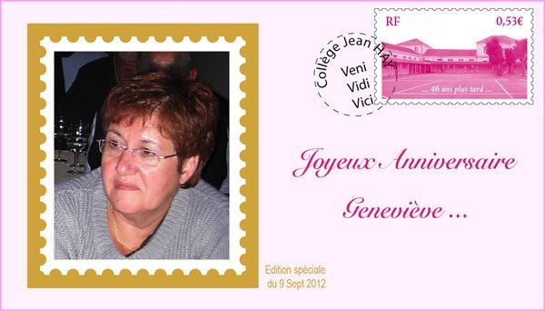 Bon anniversaire Geneviève