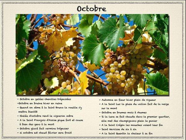 Le mois d'octobre dans l'histoire