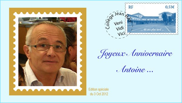 Bon anniversaire Antoine