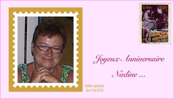 Bon anniversaire Nadine