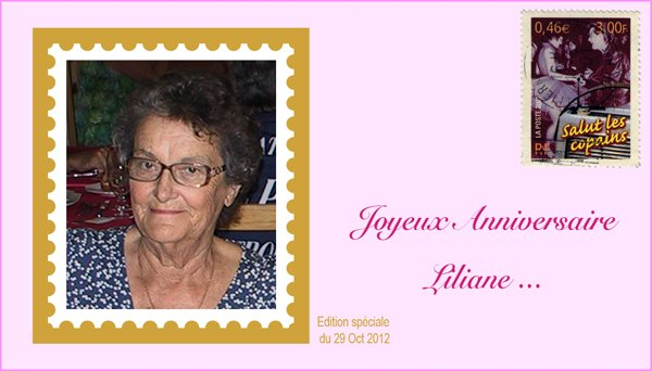 Bon anniversaire Liliane