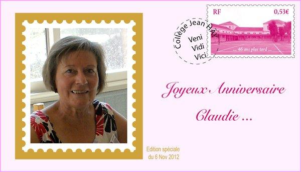 Bon anniversaire Claudie