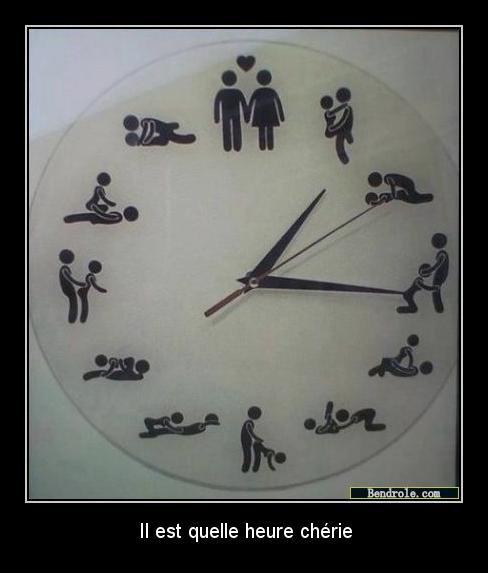 l'horloge des plaisirs