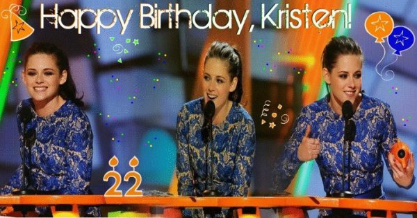 Happy Birthday Kristen Stewart !