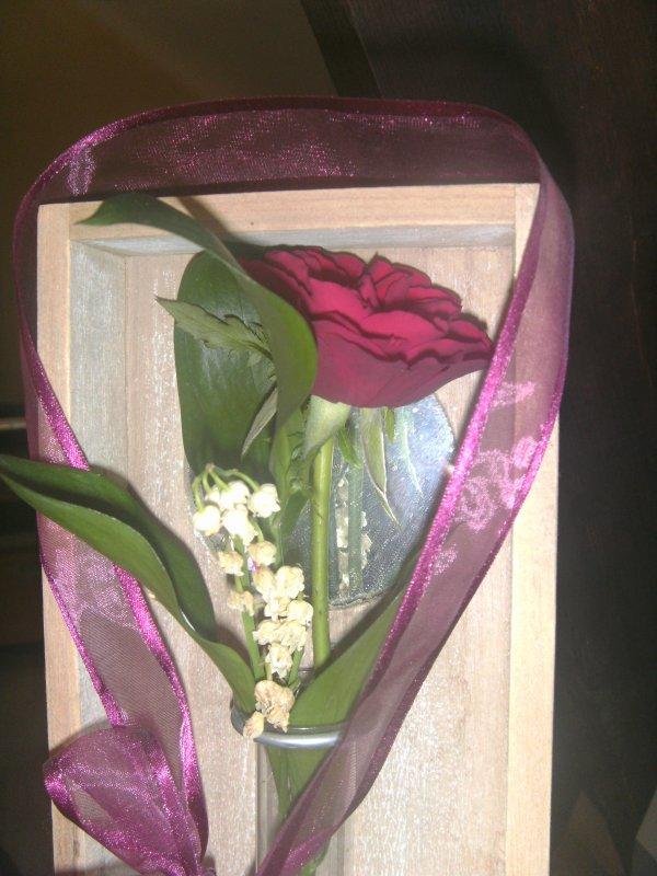 mon bouquet de muguet  qe mon homme ma offert je l aime