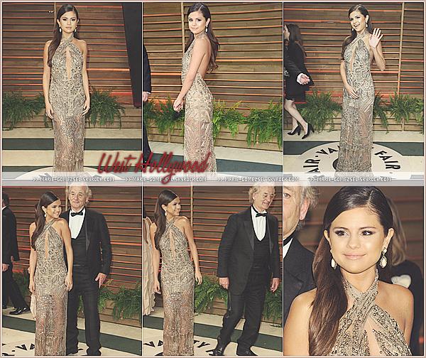 . Dimanche 2 Mars....Selena était présente à la Vanity Fair Oscar Party qui se déroulait à West Hollywood.