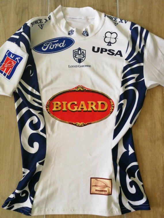 Maillot#14 du SUAgen porté par l'ailier Luc lafforgue saison 2005-2006 du Top14