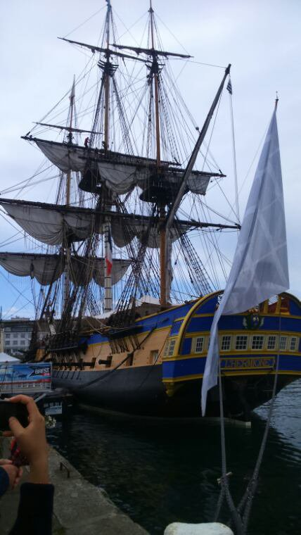 l'Hermione a Brest
