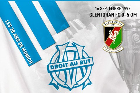 16 septembre 1992 Glentoran Belfast 0-5 OM