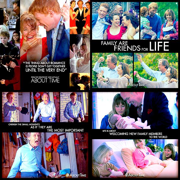 Découvrez de nombreuses affiches de « About Time » publiées sur la page Facebook du film