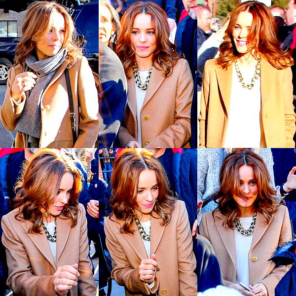 Le 19/01 :  Rachel a été photographié sortant de la conférence presse, lors du Sundance Festival
