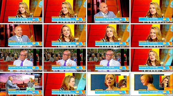 Le 22/07 :  Rachel était l'invitée du Today Show afin de promouvoir « A Most Wanted Man »